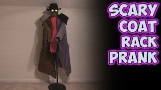 Scary Coat Rack Prank