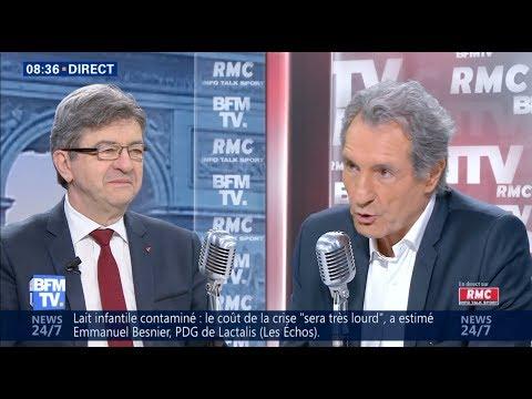 LA POLITIQUE DE MACRON EST INJUSTE - Mélenchon chez Bourdin