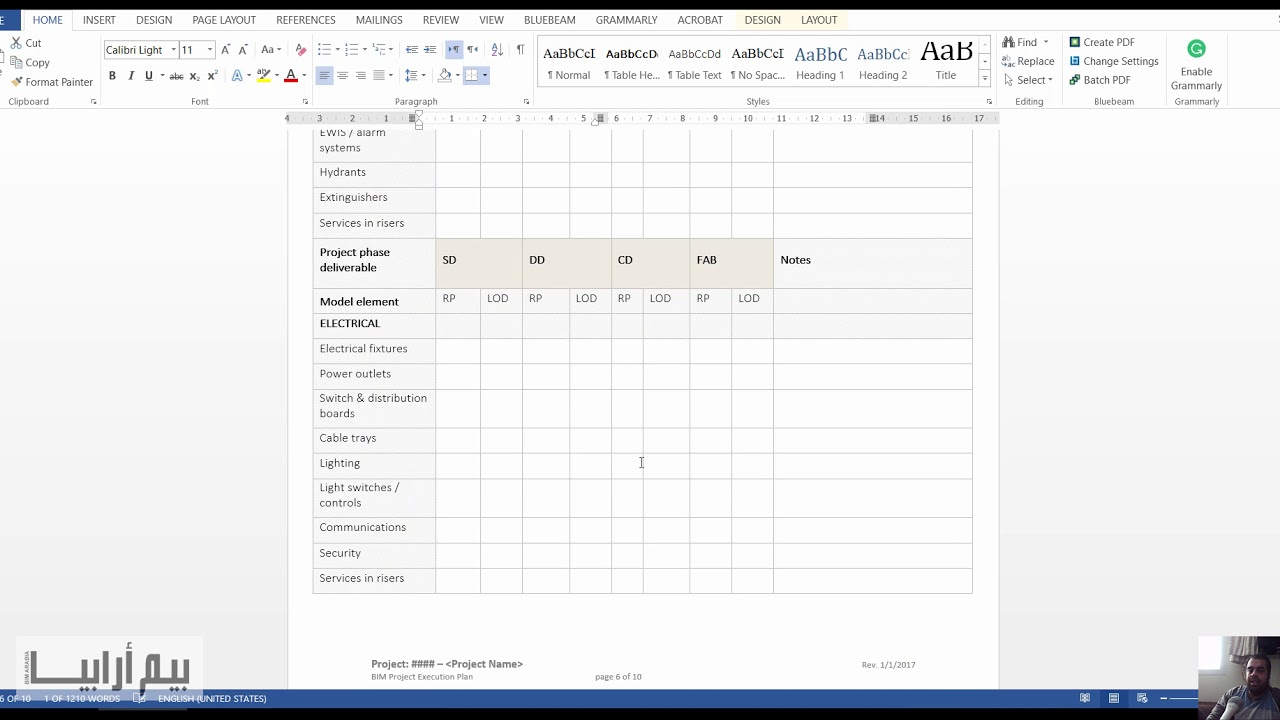 BIM Project Execution Plan example - YouTube