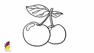 Peach - how to draw peach - how to draw Fruits