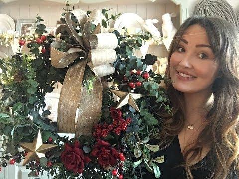 Christmas wreath tutorial | Rosie henshaw thumbnail