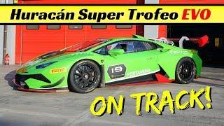 2018 Lamborghini Huracán Super Trofeo EVO first public debut on track! - Flatout, Fly-Bys & Sound!