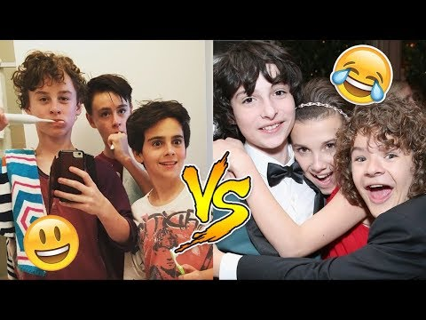 Stranger Things Cast VS IT Movie Cast - Who Is Funnier? 😊😊😊 - CUTE AND FUNNY MOMENTS 2017