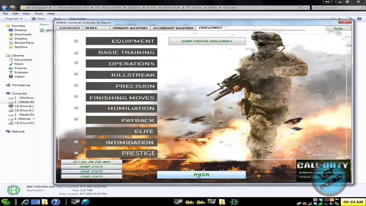 [How To] Use Call of Duty Modern Warfare 2 Unlocker Tutorial (Ranks,  Titles, Weapons, etc)