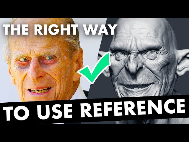 The Right Way to Use Reference when Sculpting