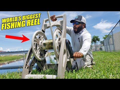 DIY HOSE CADDY REEL World's BIGGEST Fishing Rod