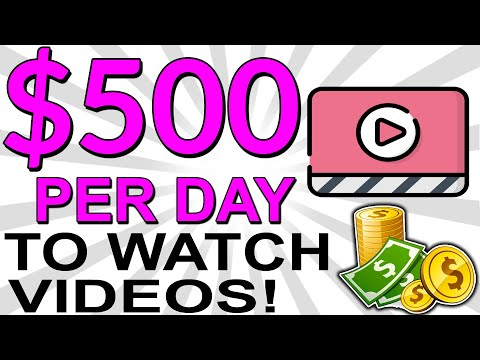 EARN $500.00 IN 1 DAY ONLINE: MAKE MONEY WATCHING VIDEOS ONLINE! (Super Simple!)