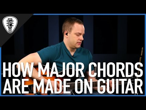 How Major Chords Are Made On The Guitar - Guitar Theory Lesson