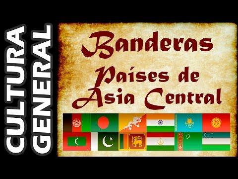 Banderas del Mundo - Países de Asia Central