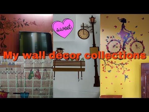 My wall decor collections with price in tamil / how i stick the wall stickers in tamil