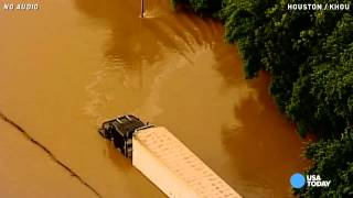 Aerials show extent of historic Texas floods