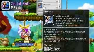 Ayumilove MapleStory Fire Poison Mage 1st 2nd 3rd 4th Job Hyper Skills Video