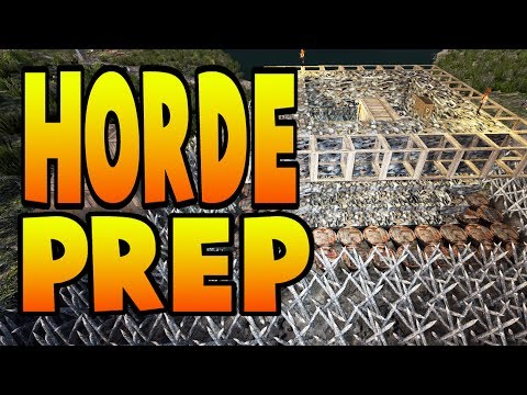 Horde Prep & Channel Waffle | 7 Days To Alpha 16 Let's Play Gameplay PC | E22