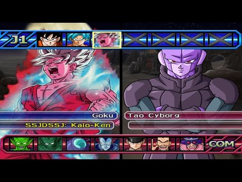 Dragon Ball Z Budokai Tenkaichi 3 - Goku SSGSS Kaio-ken VS HIT Red Potara *Epic Battle (1080p)