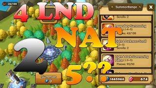 Summoners War - 4 LND Scrolls  = 2 LND NAT!? NANI??
