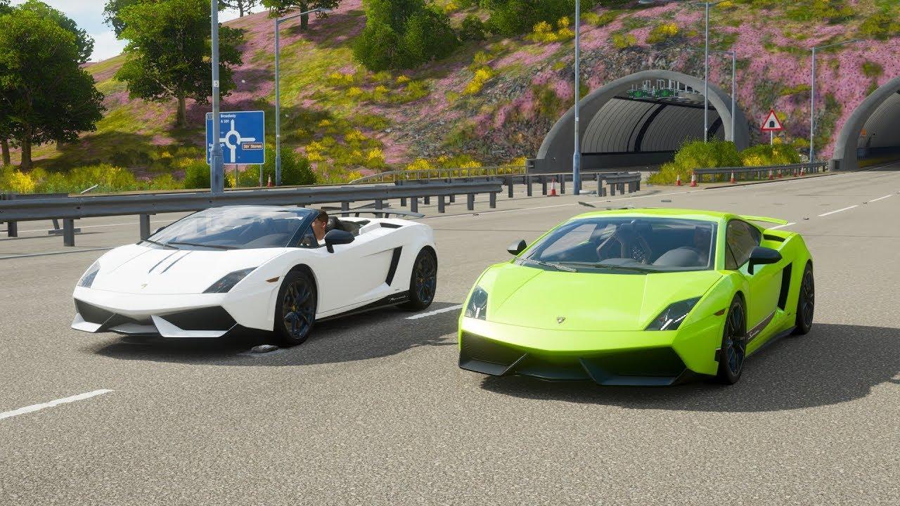Forza Horizon 4 Drag Race Lamborghini Gallardo Performante Spyder
