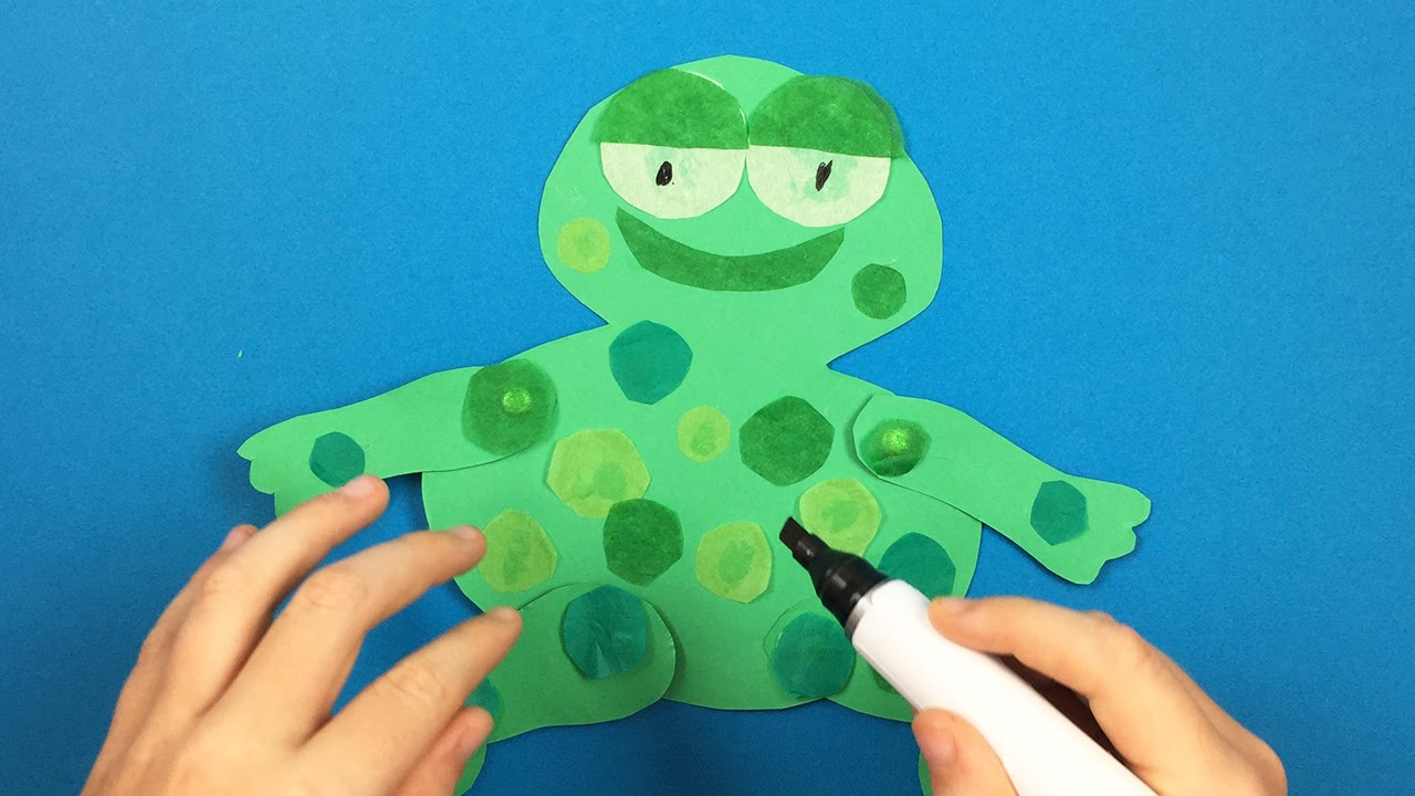Paper Craft Ideas For Kids Videos Part - 37: How To Make A Paper Frog - Simple Paper Craft Ideas For Kids - YouTube