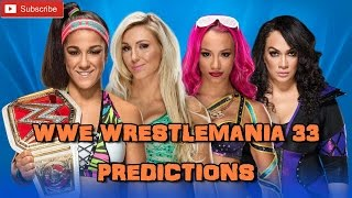 WWE Wrestlemania 33 Raw Women's Championship Bayley vs. Charlotte Flair vs. Sasha Banks vs. Nia Jax