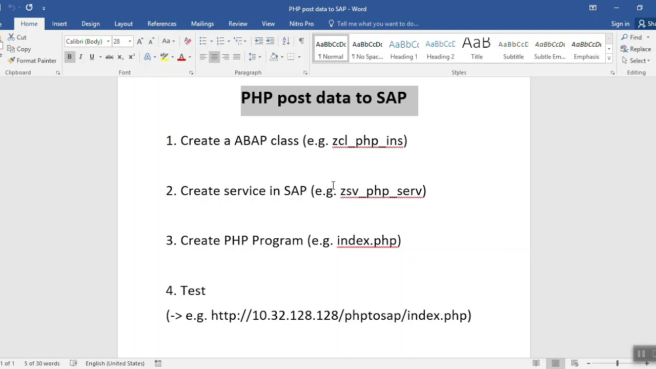 Download PHP post data to SAP