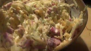 Салаты из зеленой редьки. Часть 2. Салат с копченой говядиной