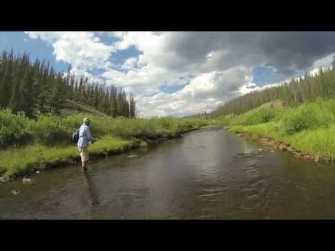 Fly Fishing In The Snowy Range, Wyoming - July 2013