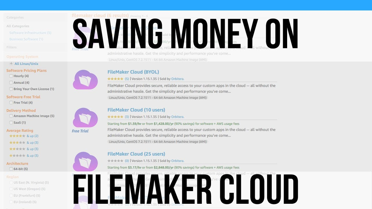 Saving Money On Filemaker Cloud