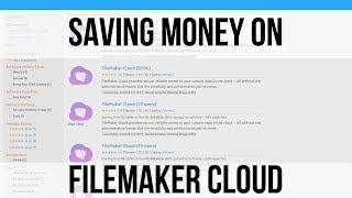 Saving Money on FileMaker Cloud | FileMaker 16 Training Videos…