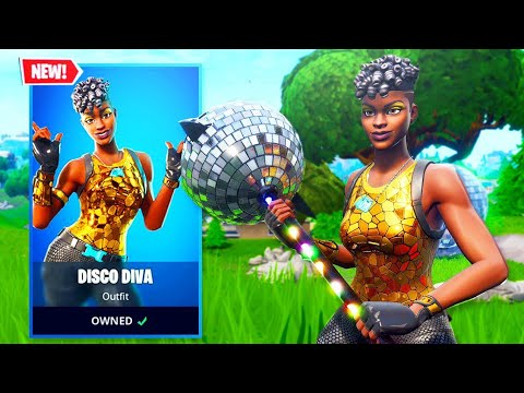 The New DISCO DIVA Skin in Fortnite..