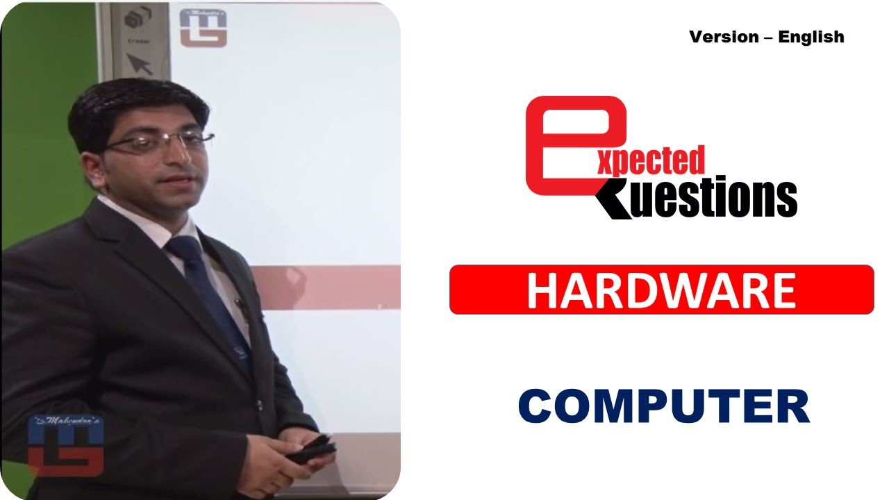 Download MOST EXPECTED QUESTIONS - HARDWARE - COMPUTER : ENGLISH VERSION