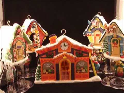 disneys mickey clock shop from mr christmas holiday innovations musical mechanical collectibles youtube