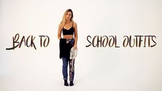 5 BACK TO SCHOOL OUTFITS 2017 / LOOKBOOK