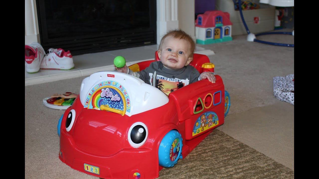 Fisher Price Crawl Around Car Unboxing and Playtime Review - YouTube