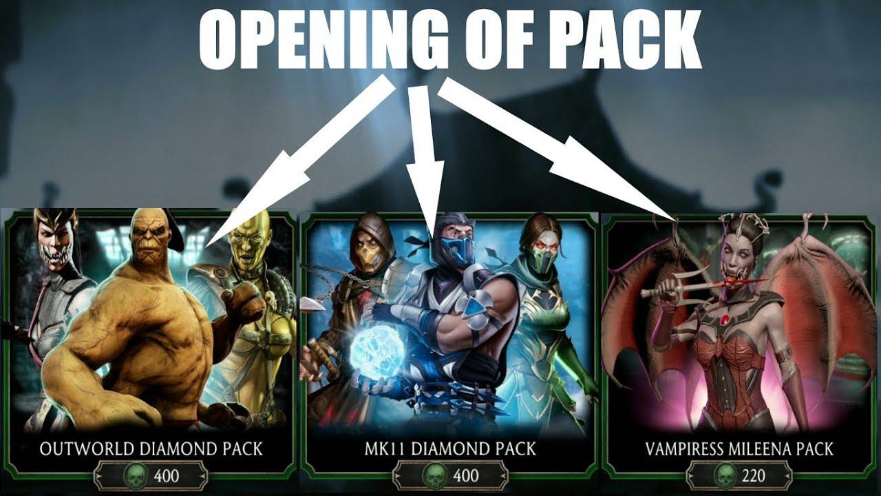 MK11 Diamond pack opening   Outworld diamond pack opening   Vampiress  Mileena pack opening