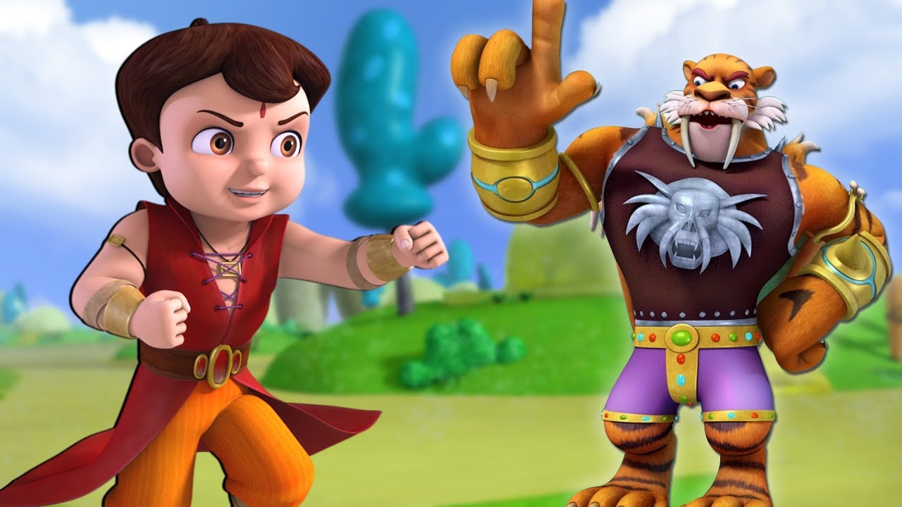 Super Bheem vs Super Lion | Hindi Cartoon for Kids