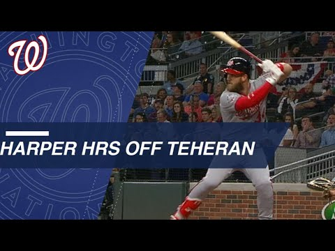 All of Bryce Harper's career HRs vs. Julio Teheran