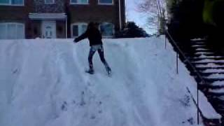 me trying to climb hill in snow- but keep falling over