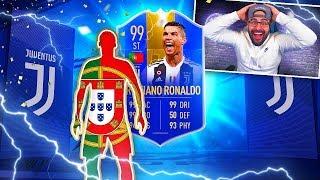 OMG I GOT 99 TOTS CRISTIANO RONALDO!! FIFA 19 Ultimate Team!!