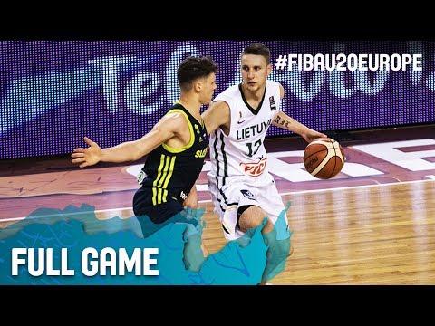 Lithuania v Slovenia - Full Game - Round of 16 - FIBA U20 European Championship 2017