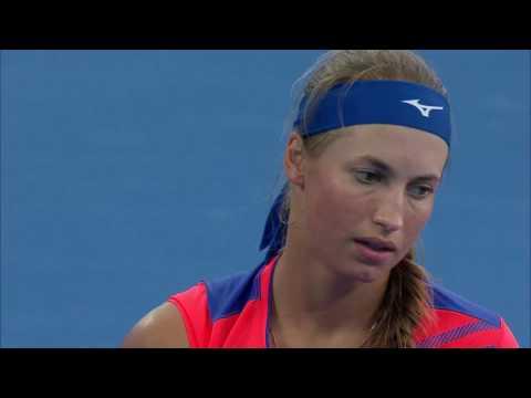 Karolina Pliskova v Yulia Putintseva highlights (1R) | Brisbane International 2017