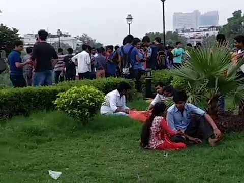 Pokemon Go Fever at Central Park in Delhi