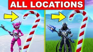 Visit Giant Candy Cane - ALL LOCATIONS : 14 Days of Fortnite Challenges (FREE REWARDS)