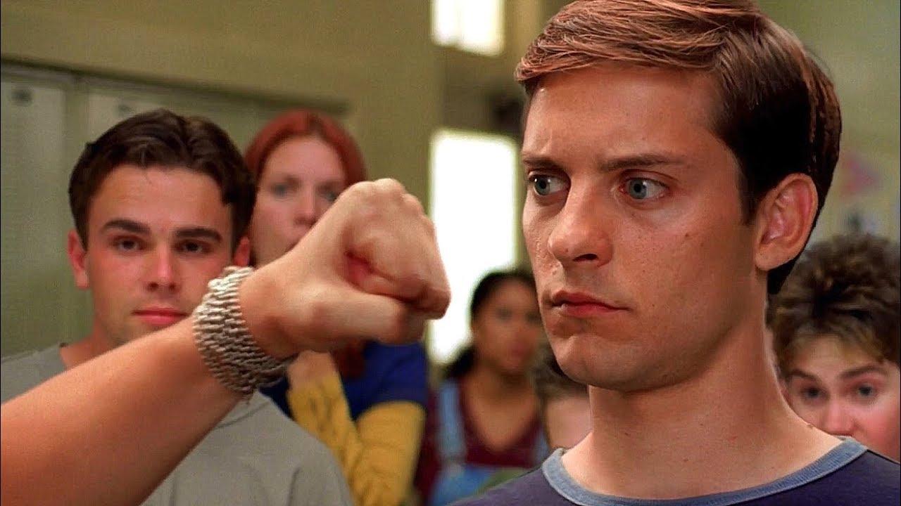 Download Peter Parker vs Flash - School Fight Scene - Spider-Man (2002) Movie Clip HD