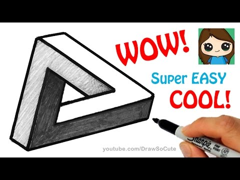 how-to-draw-the-impossible-triangle-|-optical-illusion-fun