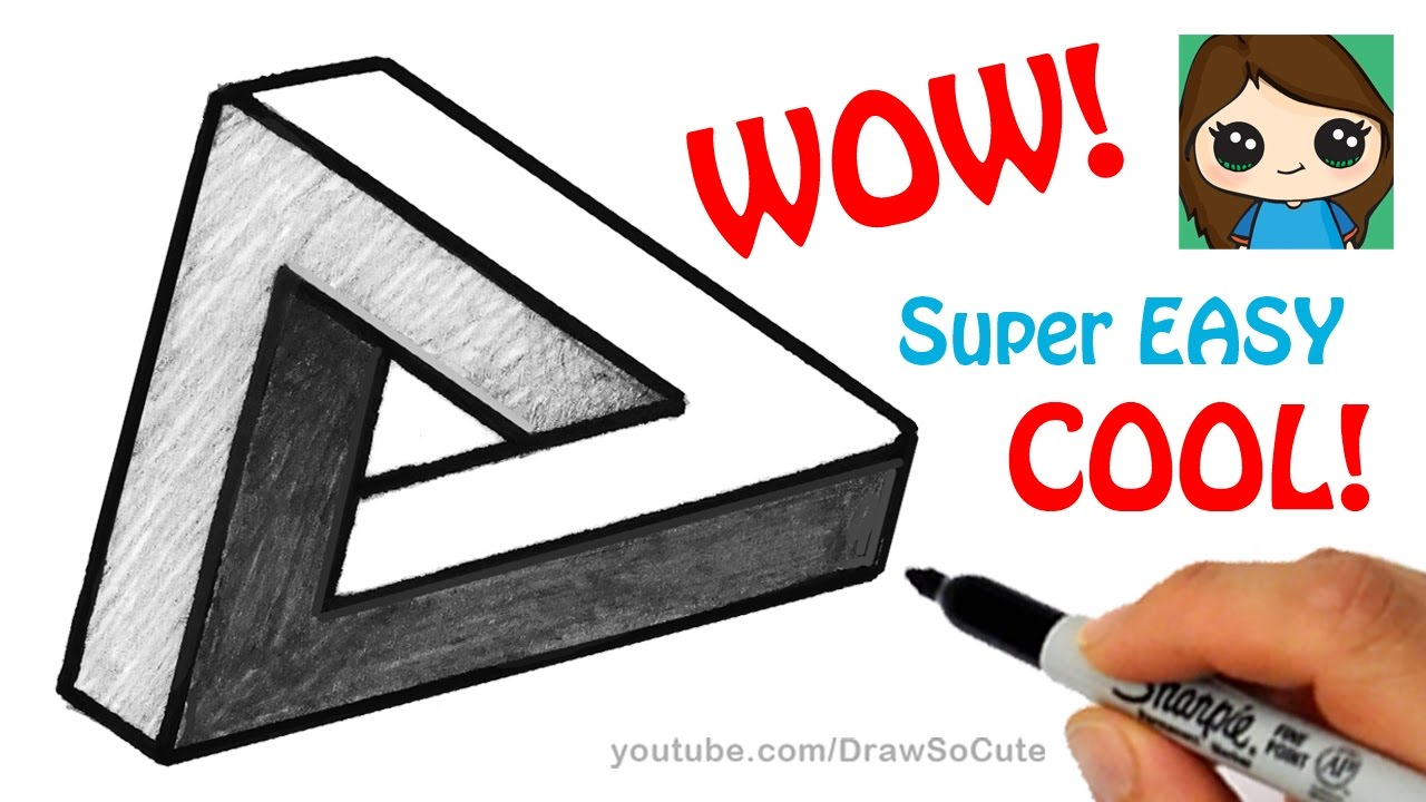 How to Draw the Impossible Triangle | Optical Illusion Fun - YouTube