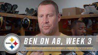 Ben Roethlisberger on Antonio Brown, Buccaneers | Pittsburgh Steelers
