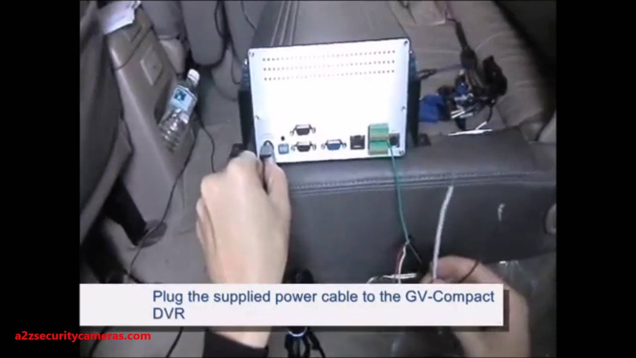 GeoVision Connecting GV Compact DVR V2 V3 to the Vehicle - YouTube