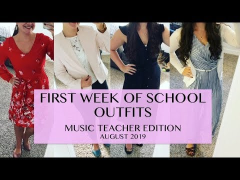 [VIDEO] - FIRST WEEK OF SCHOOL OUTFITS   Teaching Outfits August 2019 1