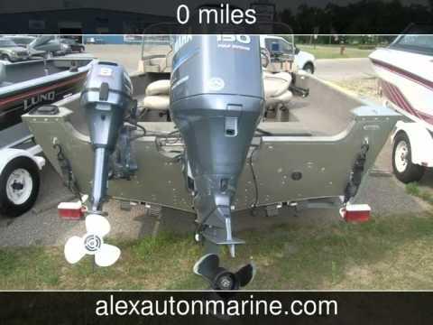 2005 Alumacraft Navigator Sport 185//150 Yamaha//8hp Yamaha  Used Boats - Alexandria,Minnesota - 201