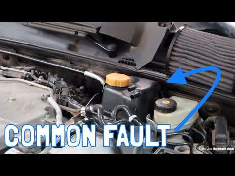 Saab 9-3 Turbo X (V6) Coolant Expansion Tank Replacement