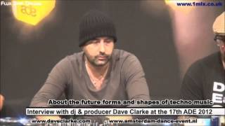 Video Interview with DJ & Producer Dave Clarke at ADE 2012